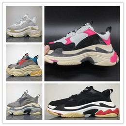 Wholesale Men S Ankle Shoes - Wholesale Luxury Triple-S Designer Wrap Sneakers Men Women Running Shoes New Color Red Silver Black Grey Sports Persona Boots