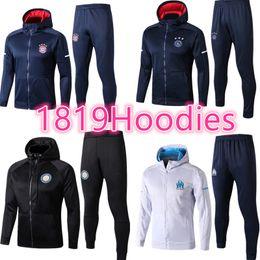 Wholesale f clothing - hop 2018 GRIEZMANN mens clothing zipper jacket track 17 18 Totten kane KANTE F TORRES KOKE SAUL CARRASCO Madrid coat mens hoodies