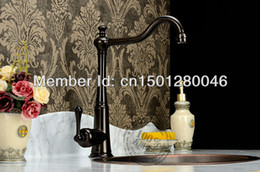 Wholesale Hotel Basin - single lever basin kitchen sink mixer tap faucet bronze color lavatory high grade brass copper hotel bathroom classic
