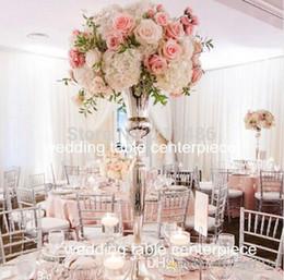 Argentina Jarrón de flor de plata de oro alto estante de flor de metal flor de la boda jarrón centro de mesa de eventos por carretera decoración del hogar del partido Suministro