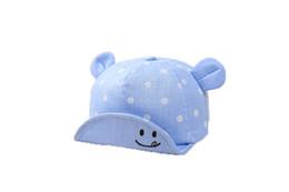 Canada Bébé garçons filles chapeau printemps automne bébé oreille dot conception réglable doux baseball chapeau bébé soleil boule casquettes supplier ear balls Offre