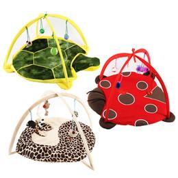 Mobile hundespielzeug online-Betten Mats Traing Tortorise Pet Bett Spielzeug Mobile Aktivität Spielen Katze Hund Welpen Häuser Pad Blanket Haus Katze Zelt Spielzeug Für haustiere