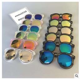 Wholesale baby toy frame - Kids Sunglasses Baby Boys Girls Fashion Brand Designer Sunglasses Kids Children Sun Glasses Beach Toys UV400 Sunglasses Sun Glasses 1717