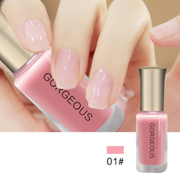 Cor de unha geléia on-line-Nail Art Pen vernis a ongle Long Lasting Natureza Cor Brilhando Semi Transparente Jelly Nail Polish Gel