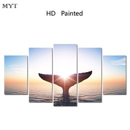 Wholesale Images Abstract - MYT BANMU Canvas Painting Home Decoration Pictures Wall Pictures For Living Room No Frame Spring Image Modular Pictures