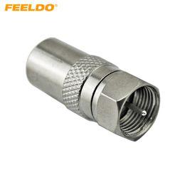 FEELDO 10 PCS Durable Alliage De Zinc Femelle Prise À F Type Mâle Plug Adaptateur Connecteur Pour Satellite TV DVR # 1495 ? partir de fabricateur