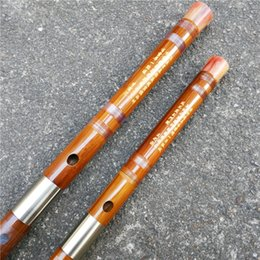 Wholesale Price G - A001 professional dizi Chinese bamboo flute musical instrument copper joint transparent wiring Key C D E F G cost-effective price