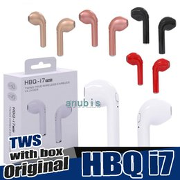 Wholesale bluetooth headset smartphone - HBQ i7 i7S TWS Wireless Earphones Mini Bluetooth Headphones V4.2 DER Stereo Sports earphone For iPhone X 8 Note8 for all smartphone