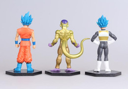 Wholesale dragon ball z frieza - 6pcs 1set Dragon Ball Z Evolution Super Saiyan toys children Dragonball Evolution cartoon Wukong Frieza vegeta model toy KKA4825