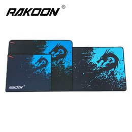 Wholesale Blue Mouse Mat - Rakoon Blue Dragon Large Gaming Mouse Pad Locking Edge Mousepad Speed Control Mouse Mat For CS GO League of Leg Dota 6 Size