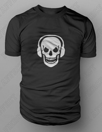 2019 cráneos de auriculares Skull And Phones DJ Clubbing Auriculares camiseta S-XXL FREE UK POST Death Zombie