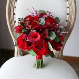 Rabatt Rose Calla Lilie Brautstrauss 2019 Rose Calla Lilie