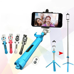 color selfie sticks Coupons - New Foldable Tripod Monopod Selfie Stick Bluetooth With Button Pau De Palo Selfie Stick For Android iPhone Perche Selfies OTH836