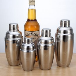 Wholesale Wholesale Angels Figurines - Stainless Steel Boston Shaker Cocktail Shaker Cocktail Mixer Wine Martini Drinking Boston Style Shaker For Party Bar Tool XL-G98