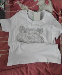 sprite sujo Desconto Cabeça Tigre bordado T-shirt jerseys puro algodão O-pescoço Pullover camisas de manga curta Marca Quente Tees homem e mulher