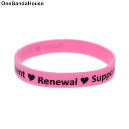 suportes de tv Desconto OneBandaHouse 1 PC Esperança Empowerment Renewal Suporte Silicone Pulseira Pulseira Motivacional