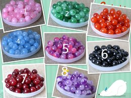 Wholesale Brilliant Pearl - Mix 25 colors 8mm Teal Pearl Spacer Loose Beads floating charms Jewelry Necklace Bracelet Making 1000pcs