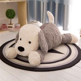 Wholesale Large Stuffed Toy Dogs - 75cm Giant Plush Lovely Lying Animal Dog Plush Toy 30'' Large Stuffed Dogs Stuffed Pillow Doll Nice Gift