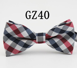 Wholesale silk family - 2018 high-grade grid bow tie stage tie Male or female bow ties for men necktie royal family tie core with the wedding supplies 40