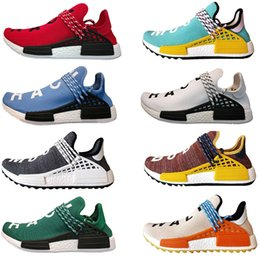 Wholesale glow inks - 2018 new Human Race Hu Running Shoes cheap Pharrell Williams HUMAN RACE discount sport shoes noble ink sun glow pale nude