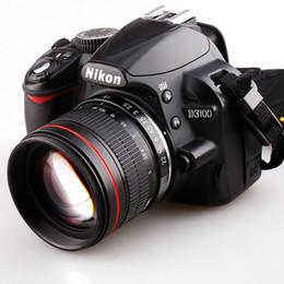 cámaras digitales telefoto Rebajas 85mm F / 1.8 Teleobjetivo medio Retrato Prime Lente de la cámara para cámara réflex digital Nikon D3100 D3200 D500 D7000 D7200 D800 D800 D800