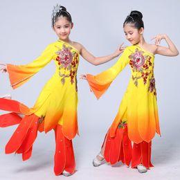 2039a5edb Chinese Folk Costume Children Yangko Dancing Clothing Fan Dance Costume  Traditional National Classic Dancer Wear Sc 1 St DHgate.com
