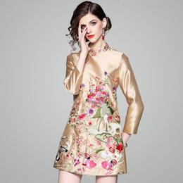 2019 vestiti eleganti xxl donna Mini abito da festa 2018 nuovo ricamo in  stile cinese Abiti 0472dcdf951