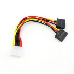 Wholesale Ata Sata Power Adapter - 1pcs Serial ATA SATA 4 Pin IDE Molex to 2 of 15 Pin HDD Power Adapter Cable Hot Worldwide Promotion
