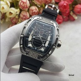 Wholesale Tungsten Diamond Watches - High quality Swiss famous brand diamond skull style watch or INVICTA watch 6 styles to choose