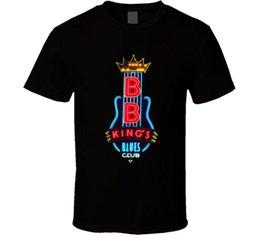 2019 benutzerdefinierte buchstaben zeichen 2018 Neue Marke Kleidung B.b. König Blues Club Memphis Leuchtreklame Schwarz T-shirt Brief T-shirt Männer Casual Weiß T-shirt Benutzerdefinierte rabatt benutzerdefinierte buchstaben zeichen