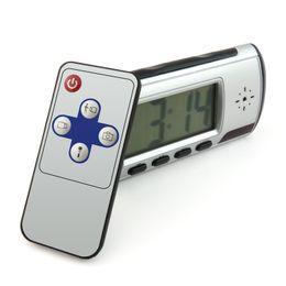 Argentina HD 1280 * 960 reloj despertador digital cámara con cámara de seguridad de grabación de video activada por movimiento con control remoto Nanny Cam cheap video record alarm Suministro