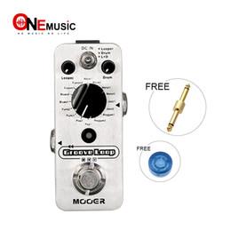 mini guitarra de efectos Rebajas Mooer Groove Loop Drum Machine y Looper Pedal en un Pedal Silver