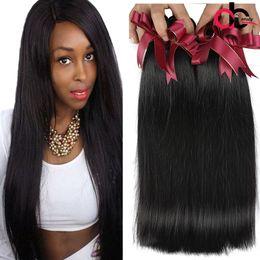 Wholesale Brazilian Vigin Hair - Brazilian Vigin Hair Straight Bundles 9A Mink Brazilian Peruvian Virgin Human Hair Weave Bundles Cheap Brazilian Straight Hair Double Weft