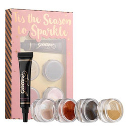 Wholesale face glue - HOT Makeup Faced eyeshadow 4 colors LOOSE GLITTER AND GLITTER PRIMER SET Glitter Glue Tis The Season To Sparkle Set DHL shipping