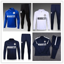 Wholesale Football Training Jackets - Inter tracksuit Football jacket set 17 18 ICARDI de foot CANDREVA JOVETIC KONDOGBIA MEDEL 2017 2018 jacket Training suit