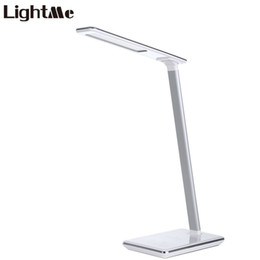 Wholesale led desk lamp usb charger - Concise Style Folding LED Desk Lamp Table Lamp Touch Induction Lamp 5V 2.5A Eye Protection Wireless Modern USB Output Charger