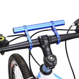 Montagem de suportes de faróis on-line-Atacado Bicicleta Guiador Suporte Prolongado Farol de Montagem Barra de Suporte Do Computador Lâmpada Ciclismo Bicicleta Quadro de Extensão de Acessórios de Bicicleta