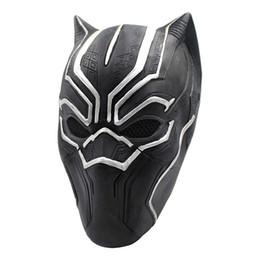 Trajes de cosplay chicos online-Marvel Hero Black Panther Máscaras para Vendetta Máscara Anónima Guy Fawkes Disfraz Disfraz Adulto Accesorio Fiesta Cosplay Máscaras