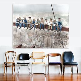 Figure Peinture L'Empire State Building Construire Ouvrier Décor À La Maison Mur Photos Pour Le Salon Toile Art No Frame ? partir de fabricateur