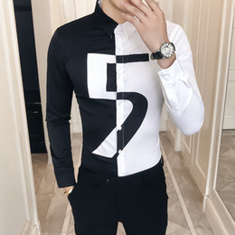 5a21e63a6cf89 long night shirts Coupons - High Quality Korean Shirt Men Slim Fit Long  Sleeve Casual Male