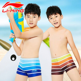 8c77d215f2 Boys Swim Trunks Boxers Online Shopping - LI-NING Children Swim suit New  boys professional