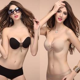 Wholesale push up lingerie corset - Women Bra Top Self Adhesive Strapless Stick Gel Silicone Push Up Invisible Bra Sticker Sexy Lingerie Corset Women Underwear