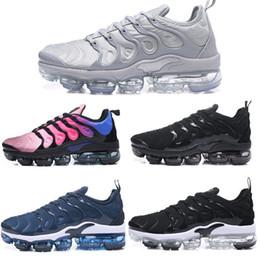 Wholesale Plus Size Shoes Flats - Vapormax TN Plus Running Shoes Classic Outdoor Run Shoes Vapor tn Black White Sport Shock Sneakers Men Size 40-45