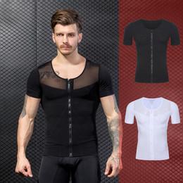 9df9c3b4f34d1 Men s T Shirt Shaper Slimming Belt Belly Vest Waist Trainer Posture  Corrector Men Compression Shirts Underwear Body Shaper Top
