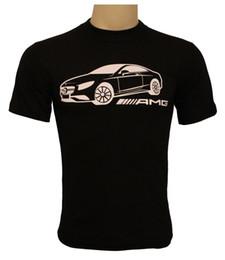 amg emblemas Desconto Handmade T-Shirt 100% Algodão Impressão Homens O-pescoço Frete Grátis Coupe AMG Logo Emblema Auto Moto Penteado Algodão