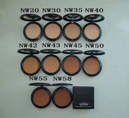 Wholesale makeup top brand - Top Quality Makeup Brand Studio Fix Face Powder Plus Foundation 15g NC NW colors DHL shipping+Gift