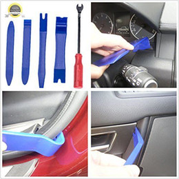 Wholesale Quality Pcs - 5 PCS Plastic Car Auto Door Interior Trim Removal Panel Clip Pry Open Bar Tool Kit High Quality Hand Tools Set BBA138