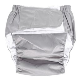 Wholesale Diaper Adults - 1PC New Washable Adjuatable Cloth Diaper Breathable Large Nappy Pants Incontinence Nappy Pants Cloth for Adult 7 Colors