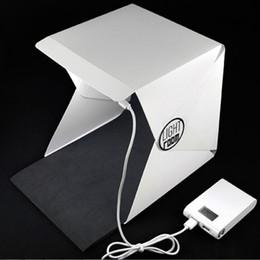 фото мягкая коробка Скидка Портативная Мини Складная Фотостудия Софтбокс Light Room Box Настольная Стрельба Палатка Встроенный Свет Софтбокс Игрушки 23x22x24 см