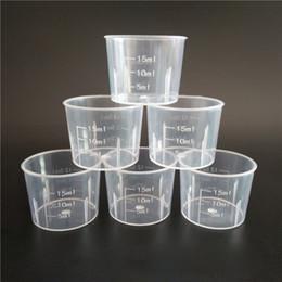 2019 copos de plástico livre Copo de medição 15 ml Transparente De Plástico Pequeno Copo De Medição De Líquido Cozinha Cozinhar Ferramenta Frete Grátis Atacado ZA6165 copos de plástico livre barato
